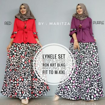 Lynelle set rok muslim ready 6 warna by Maritza