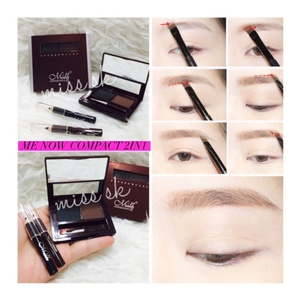 EYEBROW POWDER + EYELINER COMPACT 2 IN 1