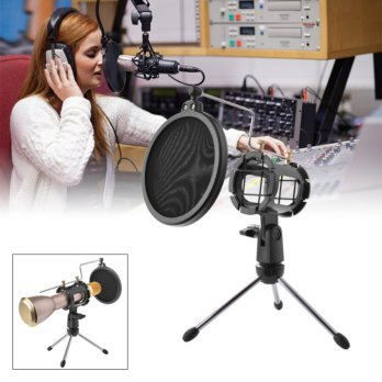 Mini Tripod Support Desktop Windscreen Filter for Microphone -TH534