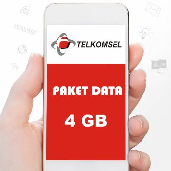 Telkomsel Paket Data 4GB ( AS LOOP SIMPATI ) 30 Hari