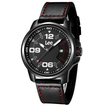 Lee Watch Jam Tangan Pria Kulit Hitam Sporty M71
