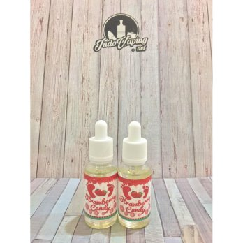 E LIQUID VAPOR VAPE - STRAWBERRY CANDY BY RYVEL E-JUICE 3MG / 30ML