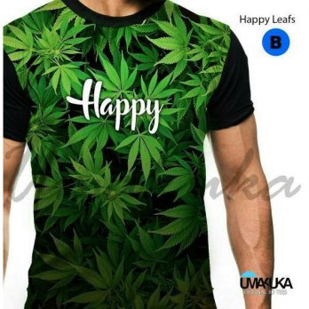 Kaos Distro Full Print Umakuka Original Bandung - HAPPY LEAFS