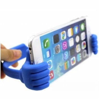 Thumb Holder for Smartphone & Tablet up to 7 Inch - Blue