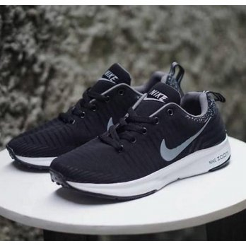 SEPATU IMPOR CASUAL SNEAKERS NIKE ZOOM BLACK GREY NEW