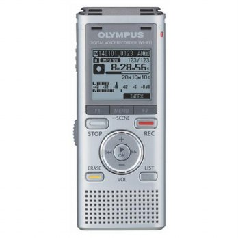 Digital Voice Recorder Olympus WS-831 High Quality Recording Internal 2GB Support MicroSD up to 32GB