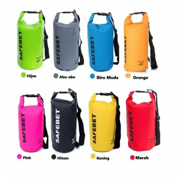 FIRSTPROJECT SAFEBET WATERPROOF DRY BAG 10 LITER (FREE 1 PCS TALI/SELEMPANG)