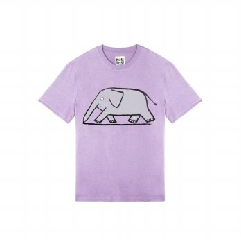 Stereo Vinyls Collection [SS18 NOUNOU] Elephant T-Shirts - Lavender