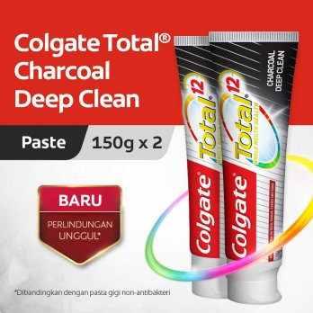 Colgate Total Charcoal Toothpaste/Pasta Gigi 150gr - Twin Pack