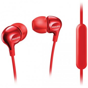 Philips SHE3705 In Ear Headphone with Mic - Merah