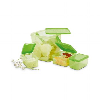 SET LUNCH BOX CONTAINER TEMPAT MAKAN HIJAU AURORA X030G2 SUNDAY ORI A