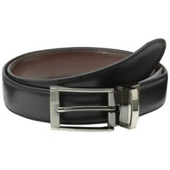 [Worldbuyer] Geoffrey Beene Mens Reversible Dress Belt With Feathered Edge Buckle Tip / 1277792