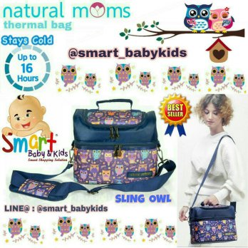 Natural Mom Thermal Bag Sling Owl