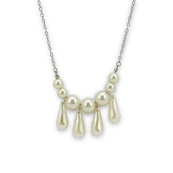 KALUNG FASHION IMPORT SOPHIE MARTIN JISELLE NECKLACE PEARL N00969P5