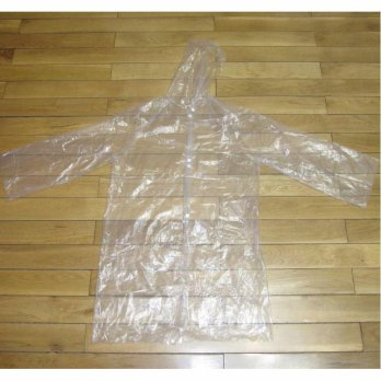 Jas Hujan Portable Filament Thick Section Raincoat with Button - Transparent