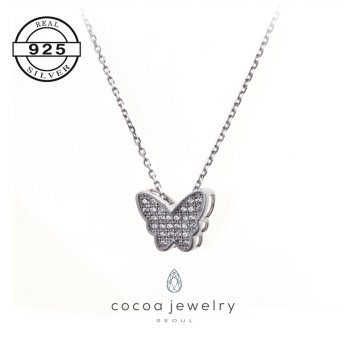 Korea Cocoa Jewelry Butterfly Love Necklace / Kalung Butterfly Love | Material Real Silver