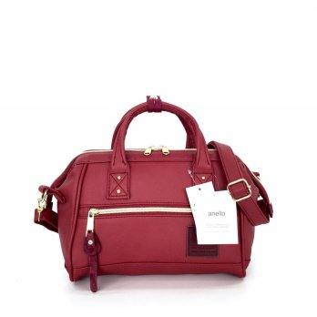Tas Import Anello Boston 2Way Leather PU Small - Maroon