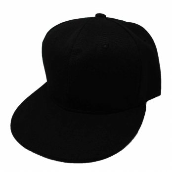 Topi Baseball Youth Caps Letter Sport Fashion - Black