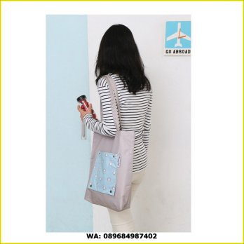 Korean Weekeight Folding Tote Bag / Tas Serbaguna Korea