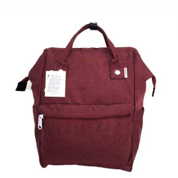 Tas Unisex Anello Ori Mottled Backpack Large - Maroon