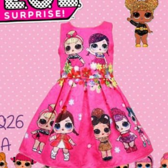 Dress Anak LOL Surprise Pink Tua
