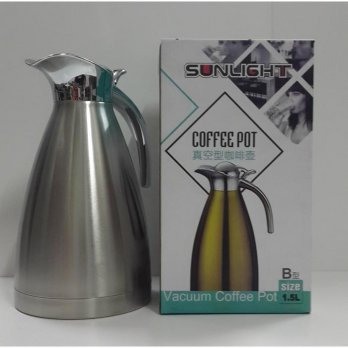 Peralatan Rumah TEKO TERMOS AIR STAINLESS STEEL VACUUM  / COFFEE POT 1.5LT NEW PROMO