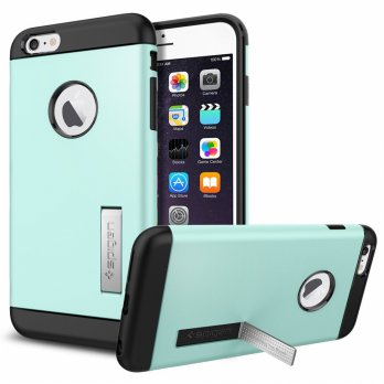 SGP Slim Armor Plastic + TPU Combination Case with Kickstand for iPhone 6 Plus (OEM) - Light Green