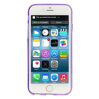 S Line Anti-Skid Frosted TPU Protective Case for iPhone 6 - Purple