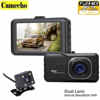 Dual Lens Vehicle Black Box DVR ( 5 MegaPixels , FULL HD 1080P )