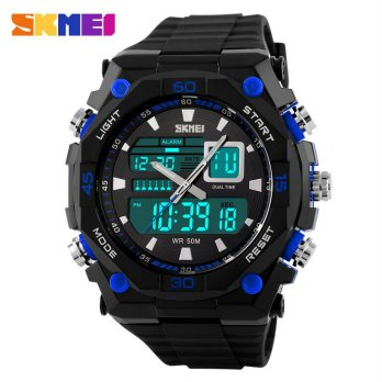 SKMEI Jam Tangan Sporty Digital Analog - AD1092 - Black/Blue