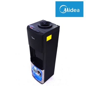 Midea YD-1242S Dispenser Tinggi Galon Atas Hot & Cold Tangki Stainless Steel - Hitam - Silver
