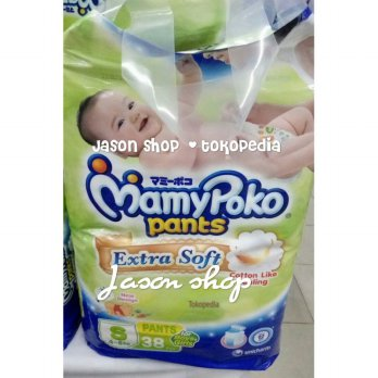 Pampers Mamy Poko Pants Extra Soft size S isi 38 pcs