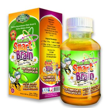 Madu Anak Smart Brain plus omega 3 & propolis