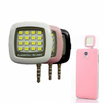 Lampu Selfie LED Fill-In Light | 3.5mm Jack Plug External Camera Flash