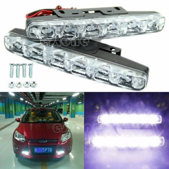 Lampu DRL Mobil 6 LED ANTI AIR