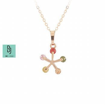 BE.JUU Kalung Rainbow Spring Korean Jewelry