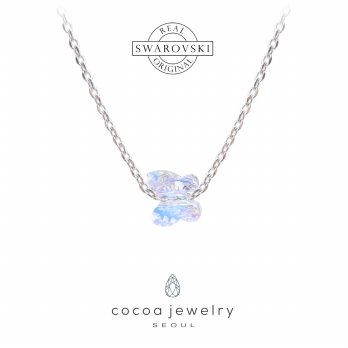 Korea Cocoa Jewelry Sparkling  Butterfly Small - Kalung Swarovski