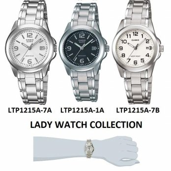 CASIO ANALOG 1215A SERIES - LADY & MAN WATCH COLLECTION - FREE SHIPPING JABODETABEK
