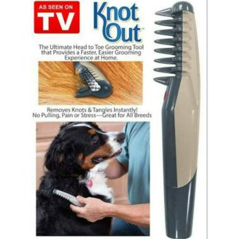 Knot Out Electric Pet Dog Grooming Comb | Sisir Anjing Anti Kusut