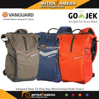 Vanguard Reno 34 Sling Bag (Blue/Orange/Khaki Green)