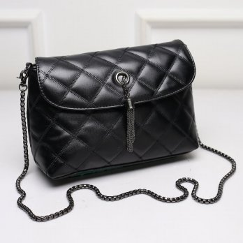 KGS Tas Pesta/Formal Wanita Clutch/Baguette Geometric Chain Lock Hitam