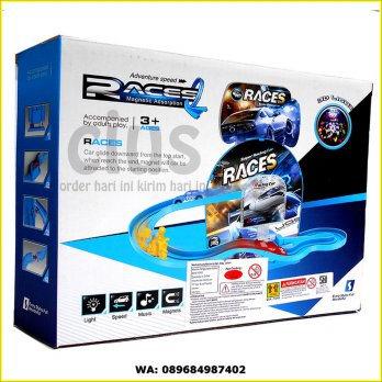 MAGNETIC TRACK RACES RACING CARS - MAINAN ANAK EDUKASI MURAH