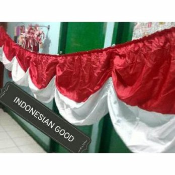 bendera background merah putih | 5 meter | bahan tahan lama tidak