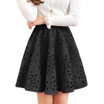 Harga Korean Style 601 Flower Punching Skirt Polyster Rayon