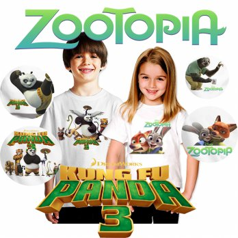 [KAOS ANAK] Kaos Anak Kungfu Panda - Zootopia | Now On Cinema!! Only at Elevenia