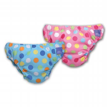 Bambino Reusable Swimnappy Small (5-7kgs) Pink Spots