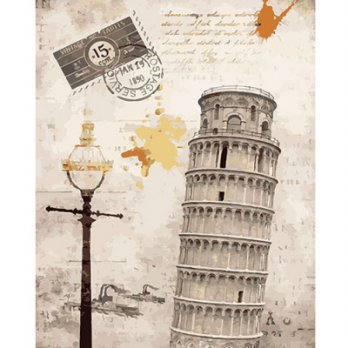DIY Painting by famous paintings - Leaning Tower of Pisa