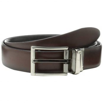 [Worldbuyer] Geoffrey Beene Mens Reversible Dress Belt With Edges And Engraved Buckle / 1275347