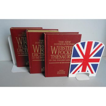 WEBSTER'S DELUXE DICTIONARY & ENGLAND BOOKSTAND
