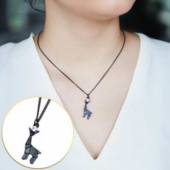 Kalung Korea Geometric Giraffe diamond copper necklaces